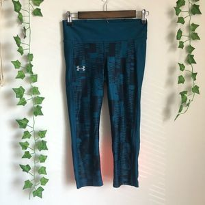 Under Armour Cropped Compression Legging Blue